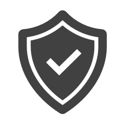 Shield with check mark indicating product validation