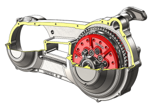 Industrial design rendering created in SolidWorks 3D CAD software
